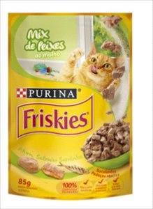 Sache Friskies Gato Adulto Mix De Peixes 85g
