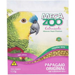 RAÇÃO EXTRUSADA MEGA ZOO PAPAGAIO ORIGINAL - REGULAR BITS AM16 600G