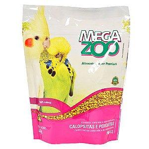 Ração Mega Zoo Calopsita E Periquito Pm13 350g