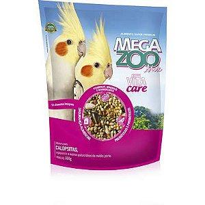 Ração Mega Zoo Calopsitas Mix 350g