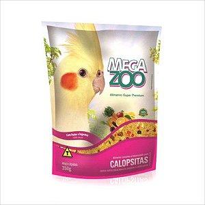 Ração Mega Zoo Calpsitas Com Frutas E Legumes 350g
