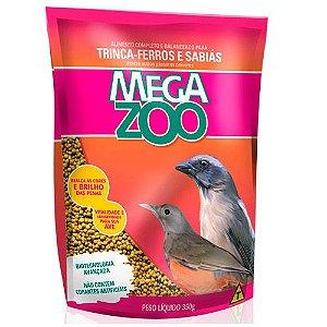 Ração Mega Zoo Trinca Ferro E Sabiá 350g