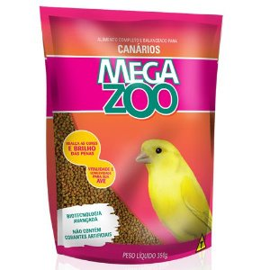 Ração Mega Zoo Canarios Cm15 350g