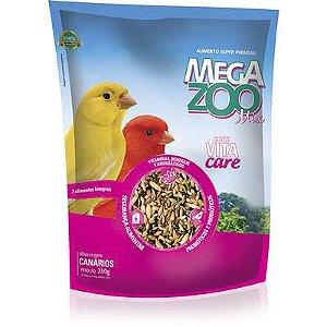 Ração Mega Zoo Canarios Mix 350g