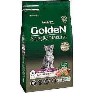 Ração Golden Seleção Natural Gato Filhote Frango E Arroz 3kg