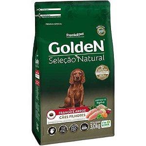 Ração Golden Seleção Natural Cão Filhote Frango E Arroz 3kg