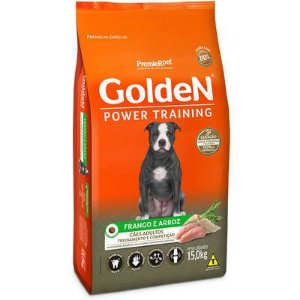 Ração Golden Power Training Cão Adulto Frango E Arroz 15kg