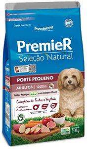 Ração Premier Seleção Natural Cão Adulto Raça Pequena Frango Korin Com Batata Doce 2,5kg