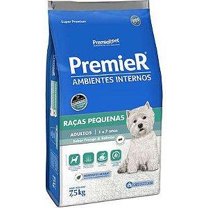 Ração Premier Ambientes Internos Cão Adulto Raça Pequena Frango e Salmão 7,5kg