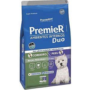 Ração Premier Ambientes Internos Duo Cão Adulto Raça Pequena Cordeiro E Peru 12kg
