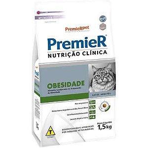 RAÇÃO PREMIER NUTRIÇÃO CLINICA GATO ADULTO OBESIDADE 500G