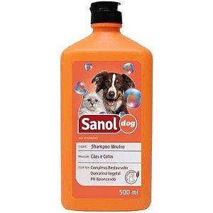 Shampoo Sanol Cao E Gato Neutro 500ml