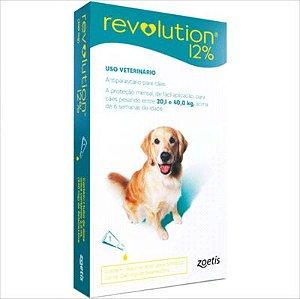 Antipulga Revolution 12% Cao 20,1kg A 40kg 2ml Caixa Com 1 Pipeta