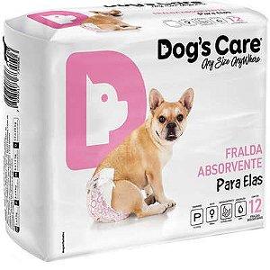 Fralda Absorvente Dog's Care Para Elas P Com 12 Unidades
