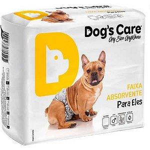 Fralda Absorvente Dog's Care Para Eles G Com 6 Unidades