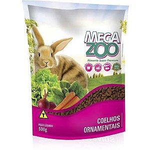 Ração Mega Zoo Coelhos Ornamentais 500g