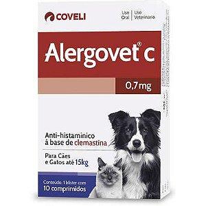 Antialérgico Alergovet C 0,7mg Caixa Com 10 Comprimidos