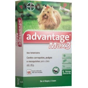 ANTIPULGA ADVANTAGE MAX3 ATE 4KG 0,4ML P