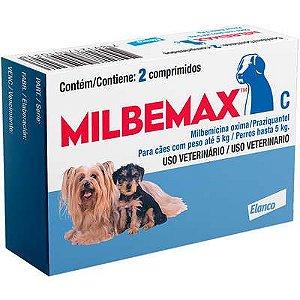 Vermifugo Milbemax Cão Até 5kg