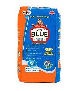 Tapete Higiênico Super Blue Premium Com 30 Unidades