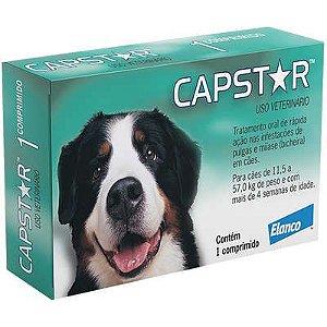 Antipulga Capstar 57mg Acima 11,4kg Caixa Com 1 Comprimido
