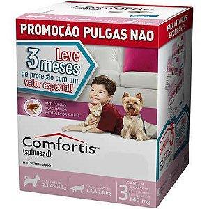 Antipulga Comfortis Cao/Gato 140mg Caixa Com 3 Comprimidos