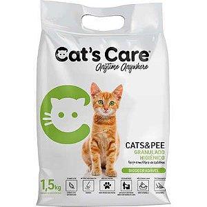 Areia Higiênica Biodegradavel Cat's Care 1,5kg