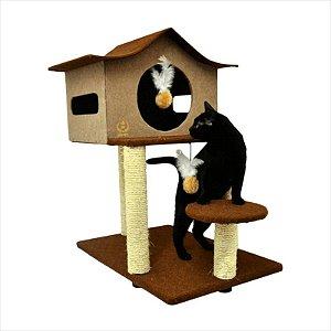 Arranhador Sao Pet Casa De Cuco