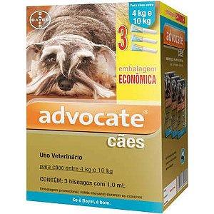 Antipulga Advocate Cao 4 A 10kg 1ml Caixa Com 3 Bisnagas