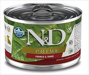 Lata N&D Prime Cão Filhote Frango E Roma 140g