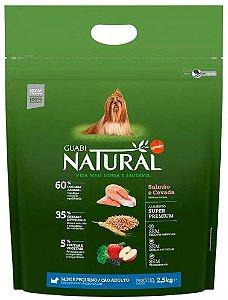 Ração Guabi Natural Cao Adulto Raça Pequena Salmão E Cevada 2,5kg