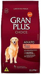 Ração Gran Plus Choice Cão Adulto Frango E Carne 15kg
