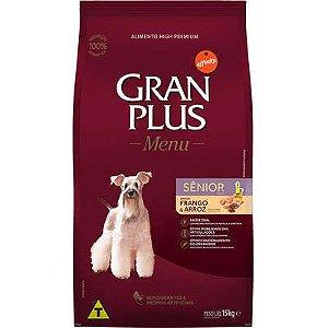 Ração Gran Plus Menu Cão Sênior Frango E Arroz 15kg