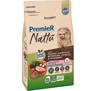 Ração Premier Nattú Cão Filhote Raça Pequena Frango E Mandioca 1kg