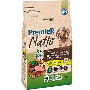 Ração Premier Nattú Cão Filhote Frango E Mandioca 2,5kg