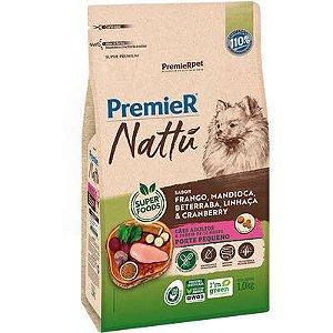 Ração Premier Nattú Cão Adulto Raça Pequena Frango E Mandioca 1kg
