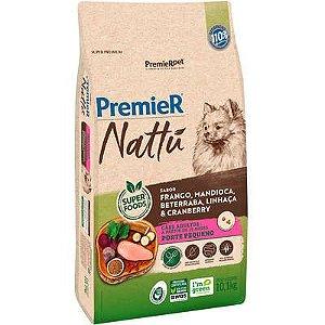 Ração Premier Nattú Cão Adulto Raça Pequena Frango E Mandioca 10,1kg