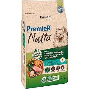 Ração Premier Nattú Cão Adulto Raça Pequena Frango E Abóbora 10,1kg