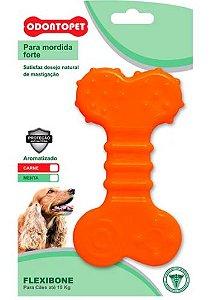 Brinquedo Odontopet Flexibone Flat Para Cão Até 15kg