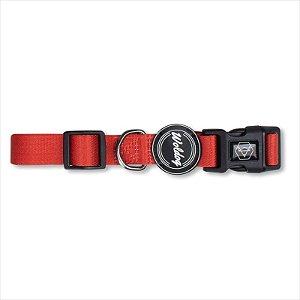 Coleira Woldog Vermelha M