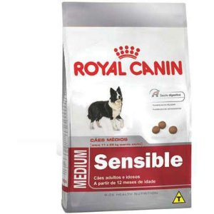 Ração Royal Canin Cão Adulto Medium Sensible 15Kg
