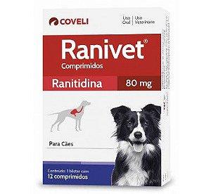 Antiácido Ranivet 80mg Caixa com 12 Comprimidos