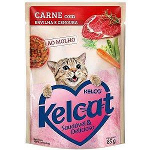 Sache Kelcat Gato Carne, Ervilha E Cenoura 85g