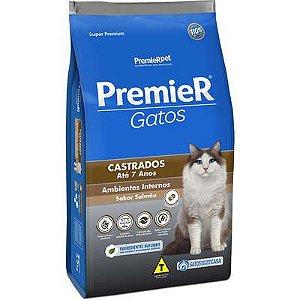 Ração Premier Ambientes Internos Gato Castrado Ate 7 Anos Salmão 1,5kg