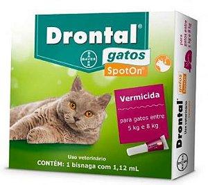 Vermifugo Drontal Gatos Spot On 5 A 8kg 1,12ml