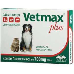 Vermífugo Vetmax Plus 700mg