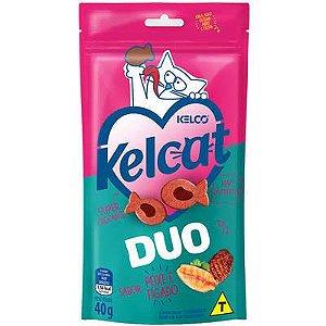 Petisco Kelcat Duo Peixe e Figado 40g