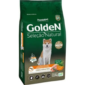 Ração Golden Seleção Natural Cão Adulto Abóbora 12kg