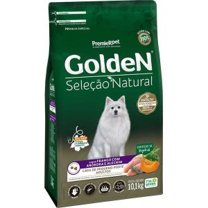 Ração Golden Seleção Natural Cão Adulto Pequeno Porte Abóbora 10,1kg