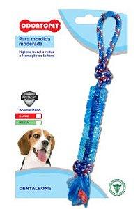 Brinquedo Odontopet Dentalbone Tubo Corda Para Cão Até 15kg